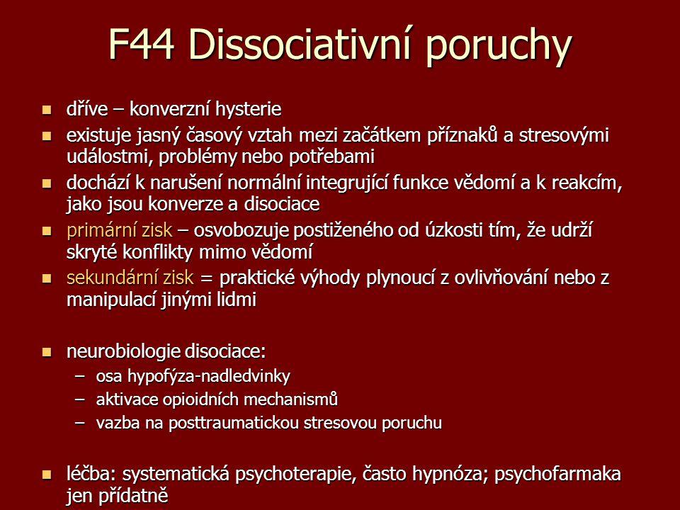 F44 Dissociativní poruchy