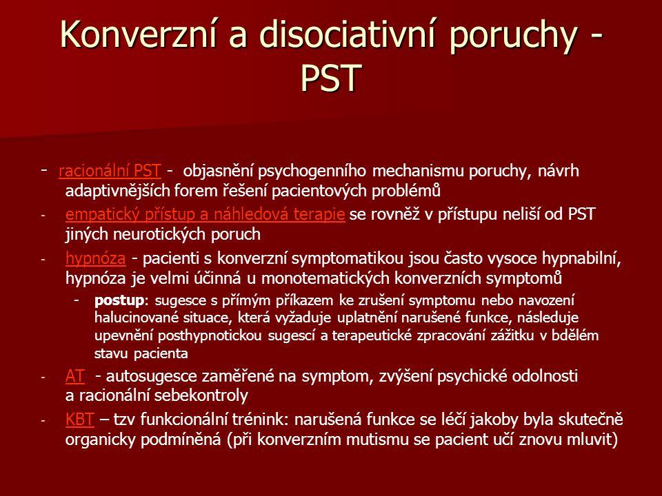 Konverzní a disociativní poruchy - PST