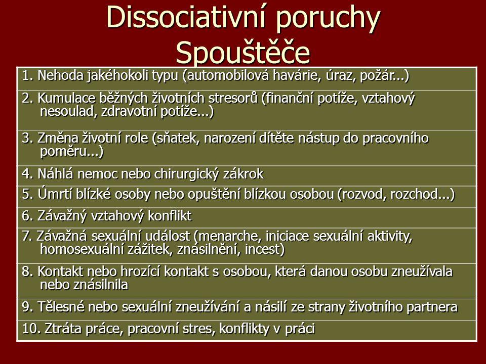 Dissociativní poruchy Spouštěče