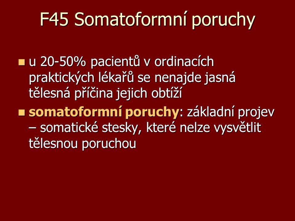 F45 Somatoformní poruchy