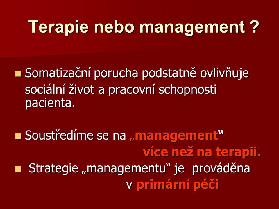 Terapie nebo management