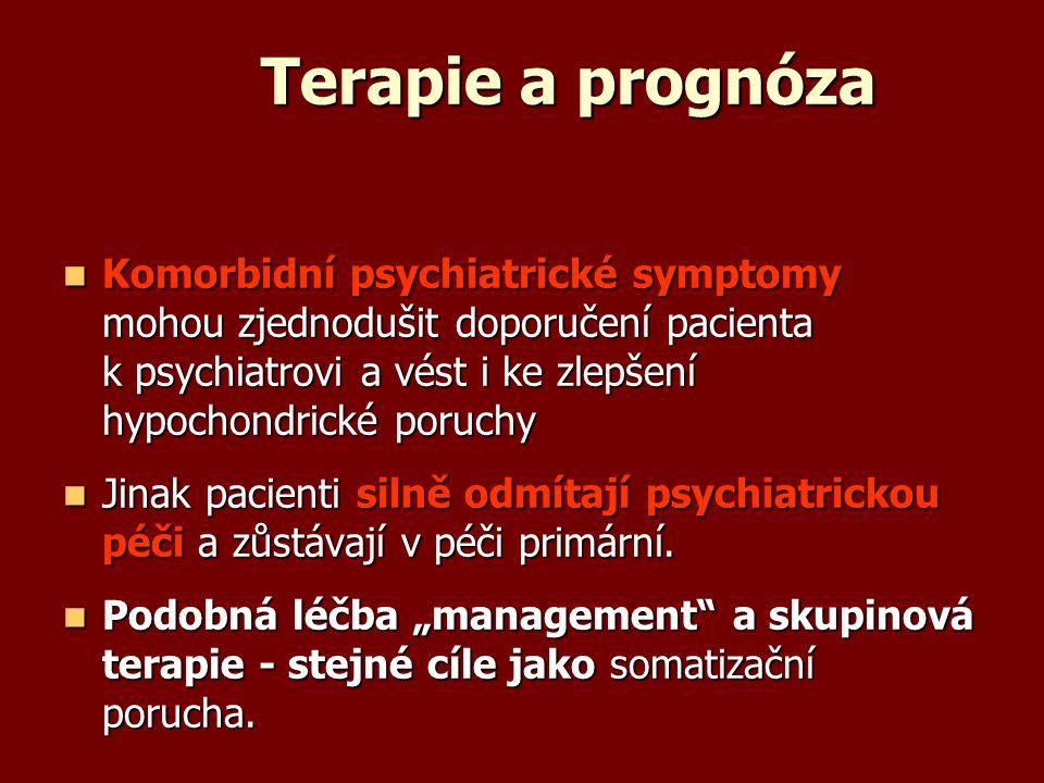 Terapie a prognóza