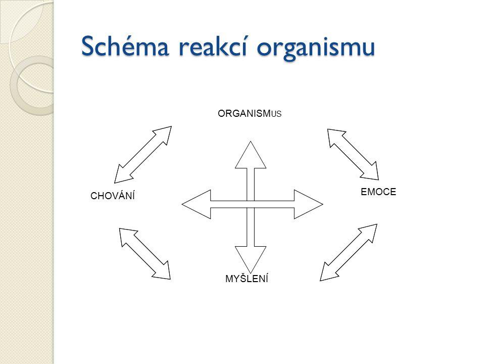 Schéma reakcí organismu