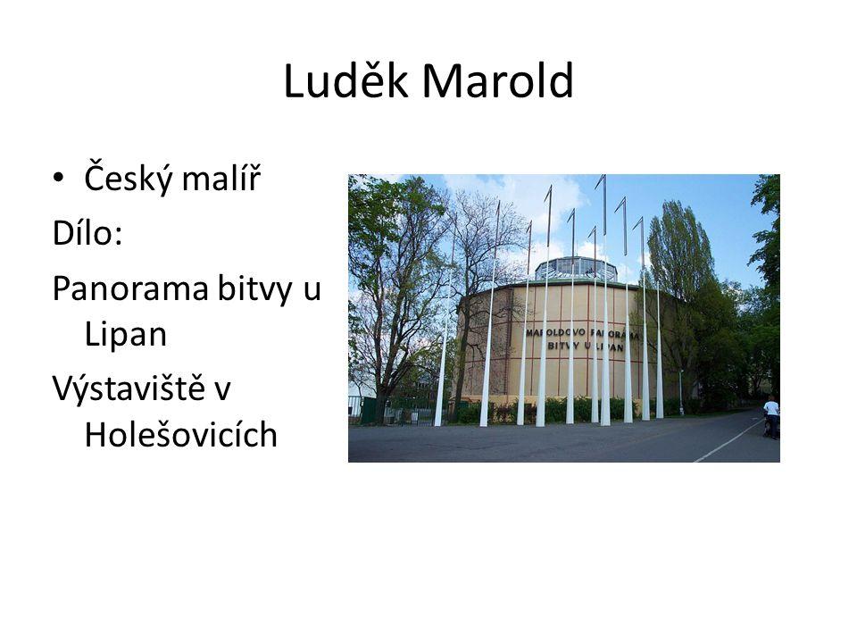 Luděk Marold Český malíř Dílo: Panorama bitvy u Lipan
