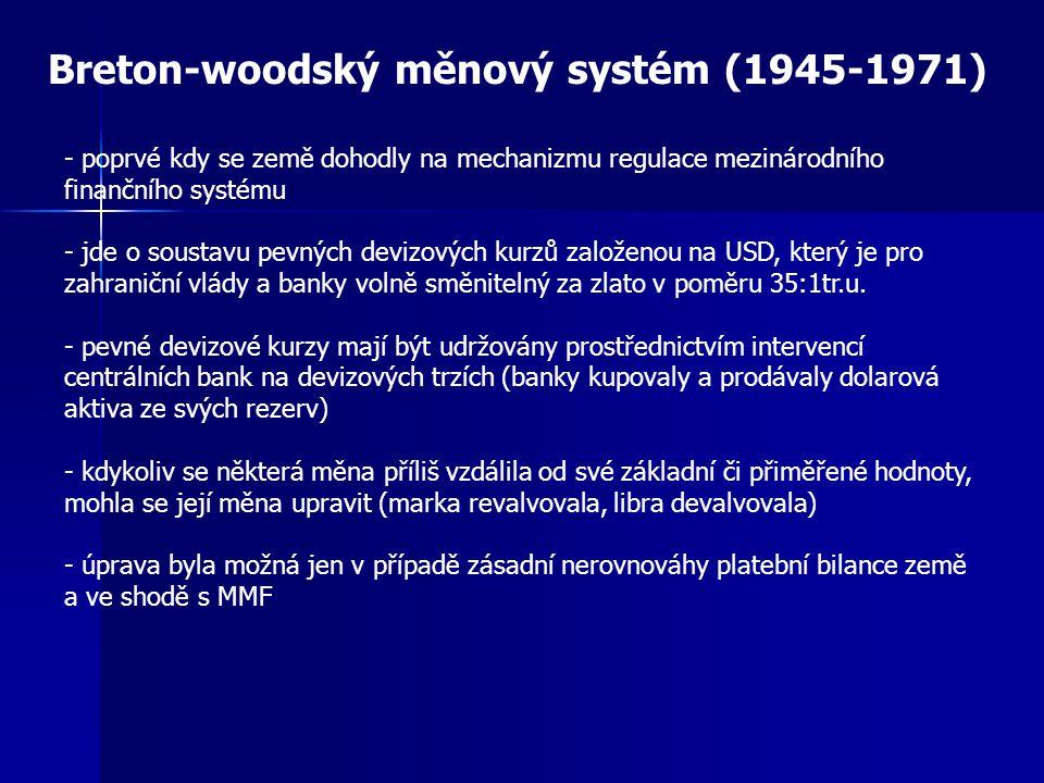 Breton-woodský měnový systém (1945-1971)
