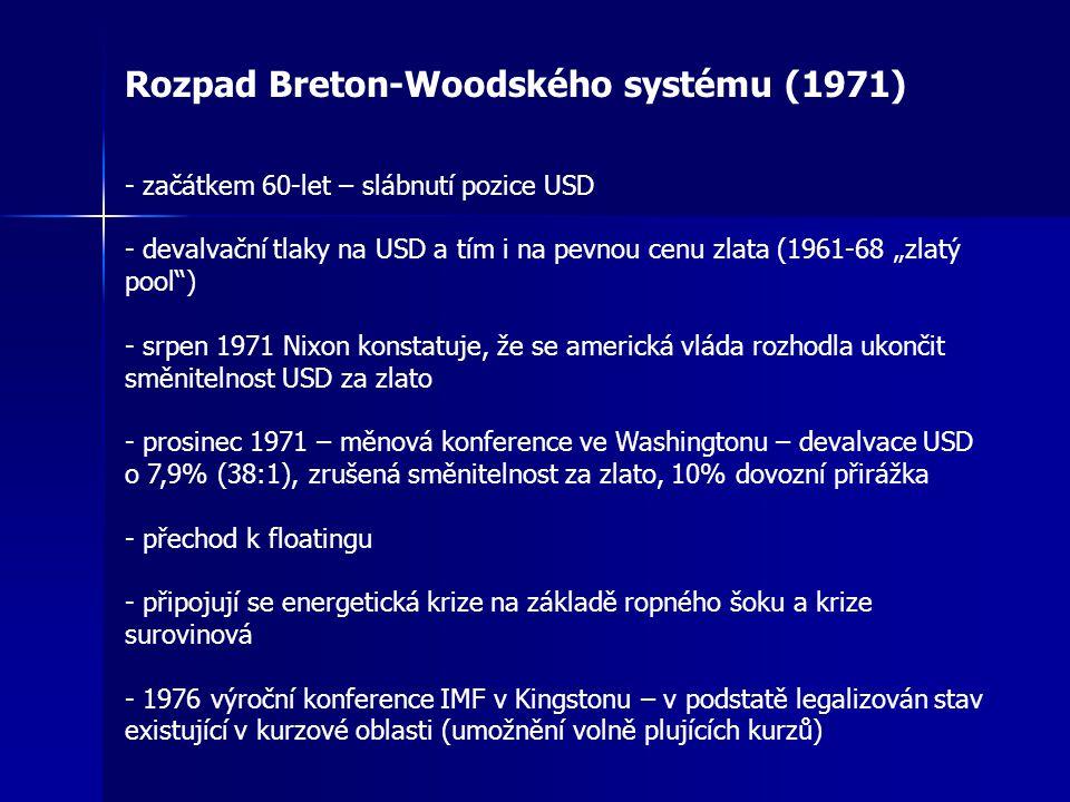 Rozpad Breton-Woodského systému (1971)