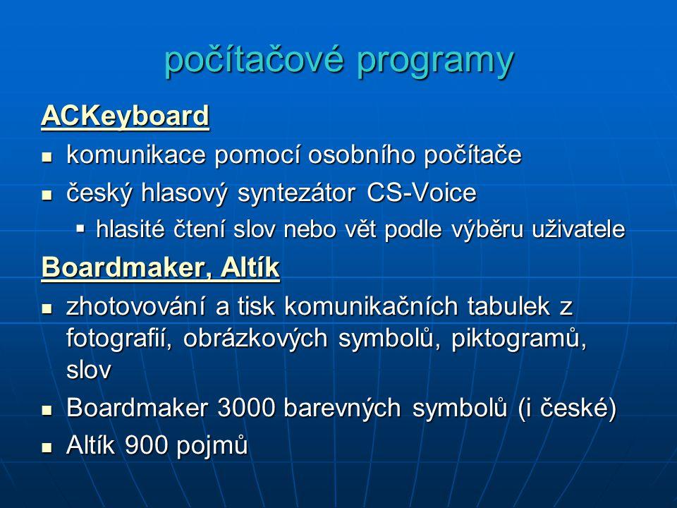 počítačové programy ACKeyboard Boardmaker, Altík