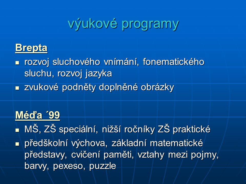 výukové programy Brepta Méďa ´99
