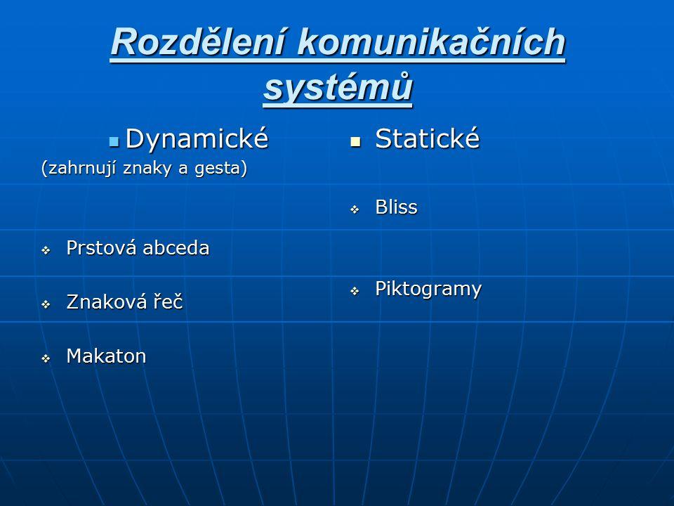 Rozdělení komunikačních systémů
