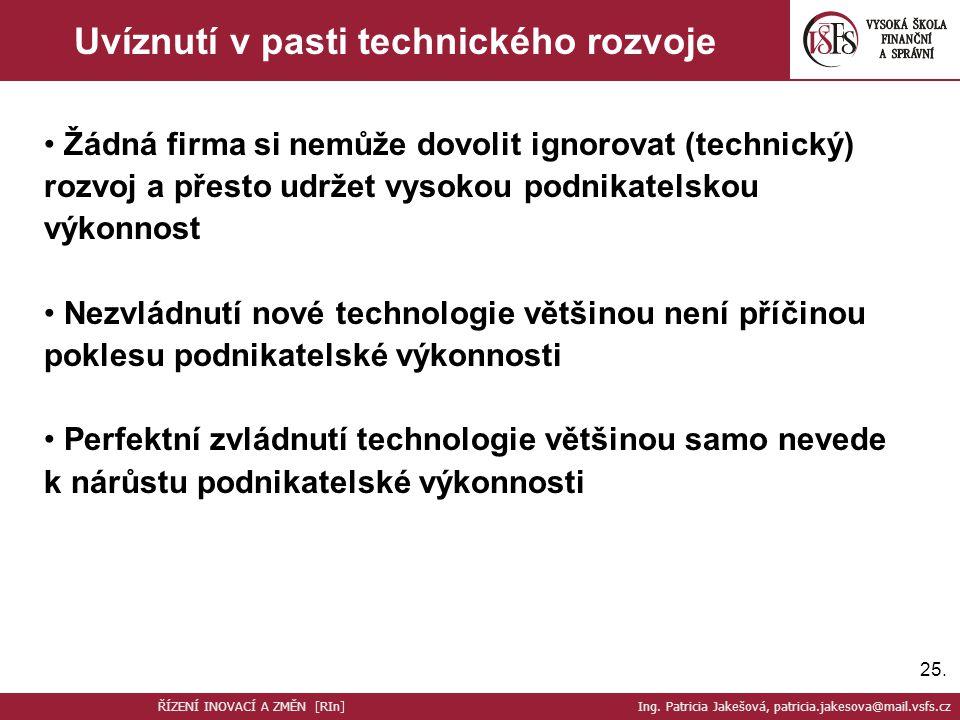 Uvíznutí v pasti technického rozvoje