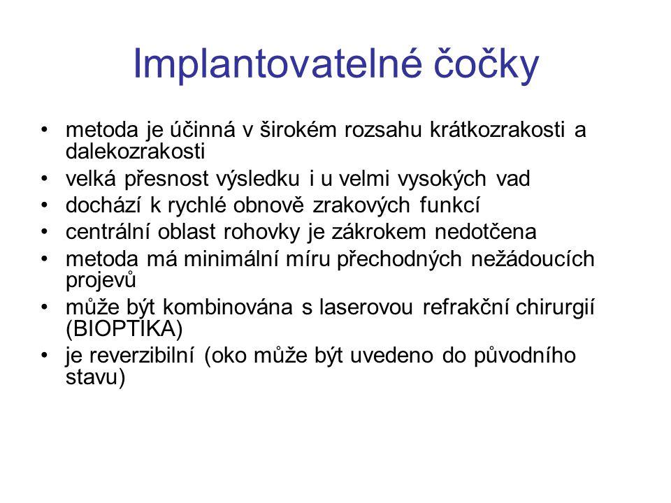 Implantovatelné čočky