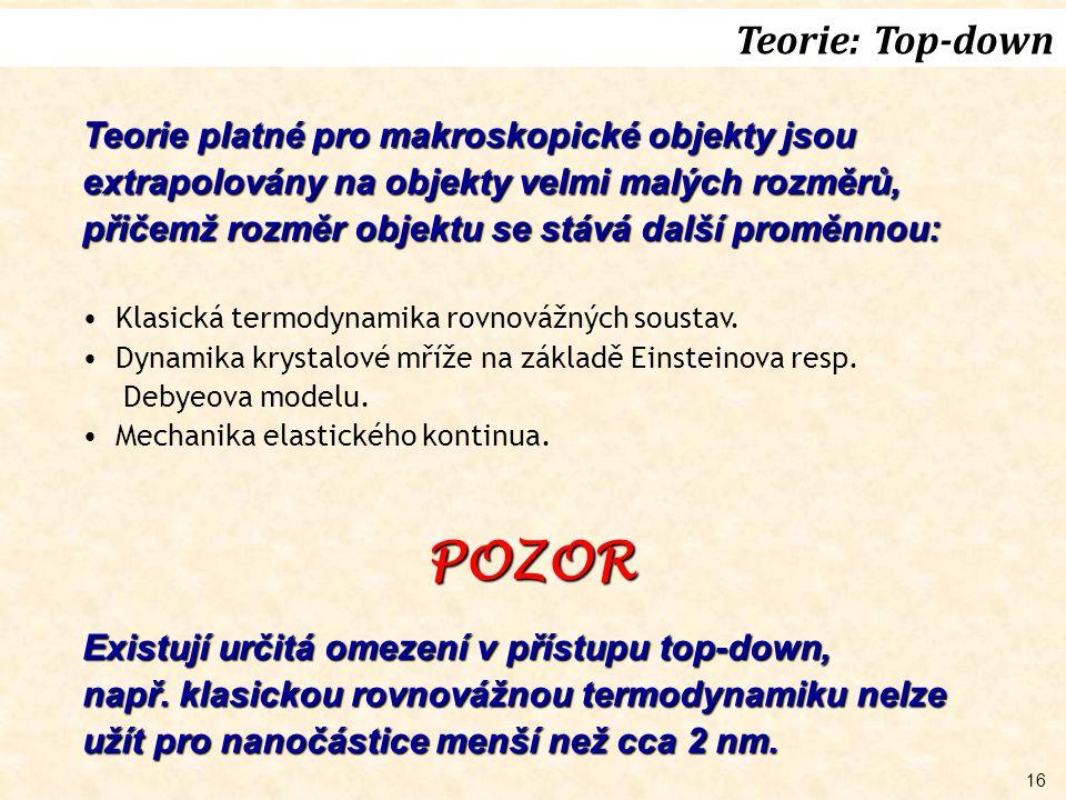 POZOR Teorie: Top-down