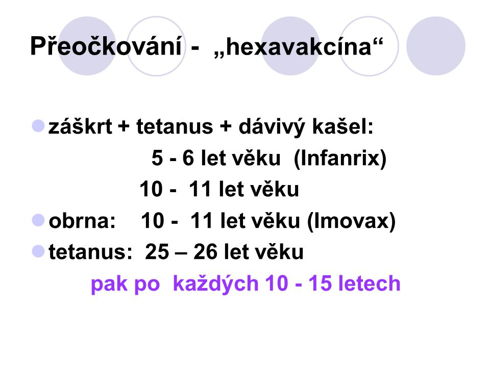 """Přeočkování - """"hexavakcína"""