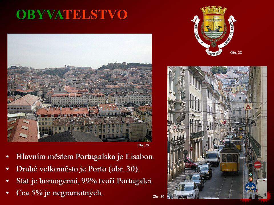OBYVATELSTVO Hlavním městem Portugalska je Lisabon.