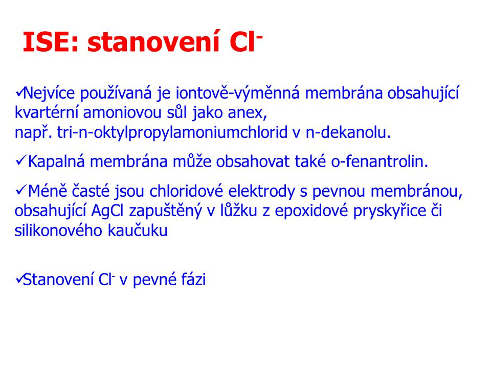 ISE: stanovení Cl-