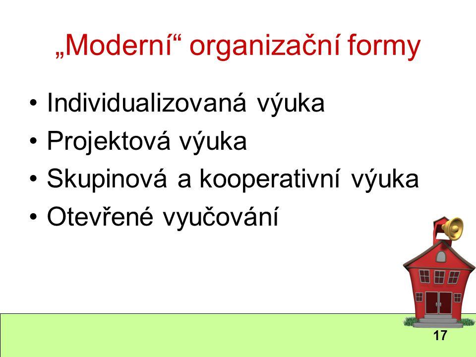 """""""Moderní organizační formy"""