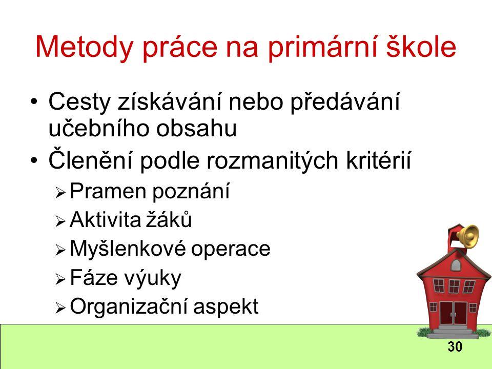 Metody práce na primární škole