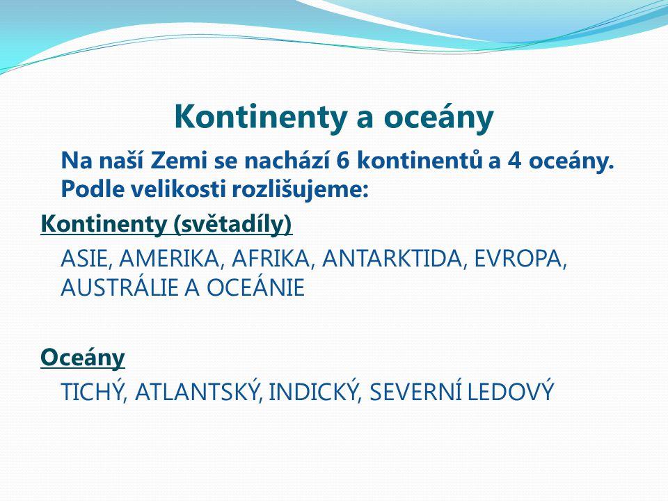 Kontinenty a oceány