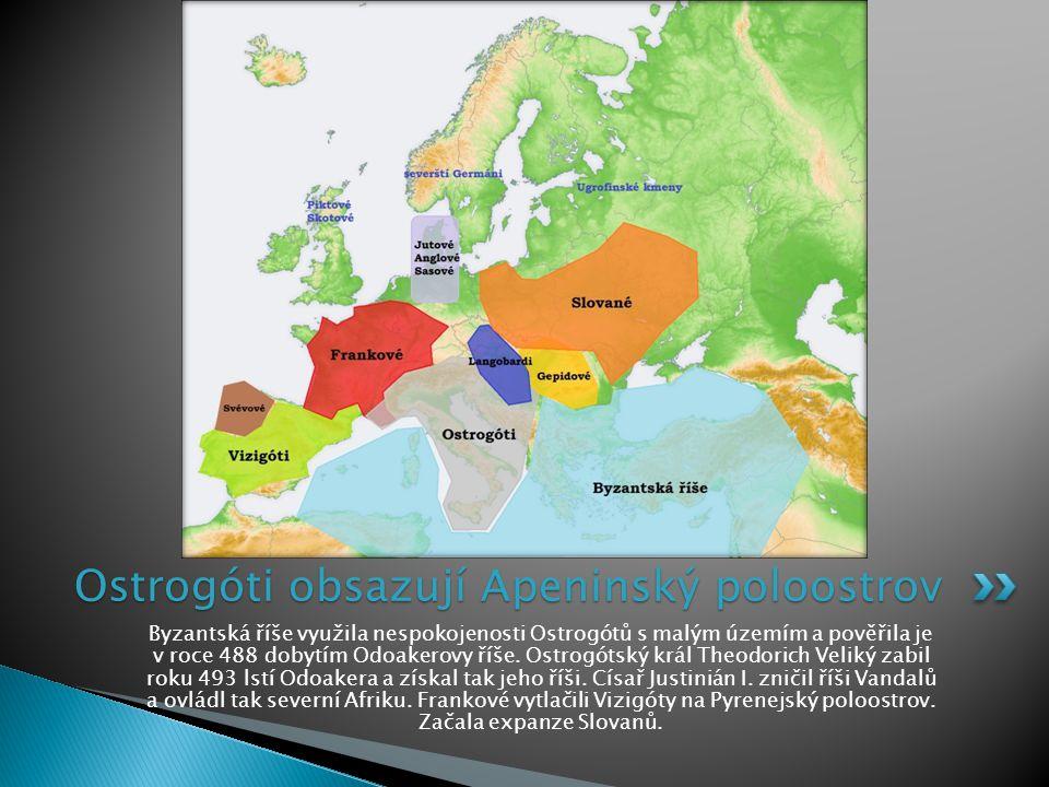 Ostrogóti obsazují Apeninský poloostrov