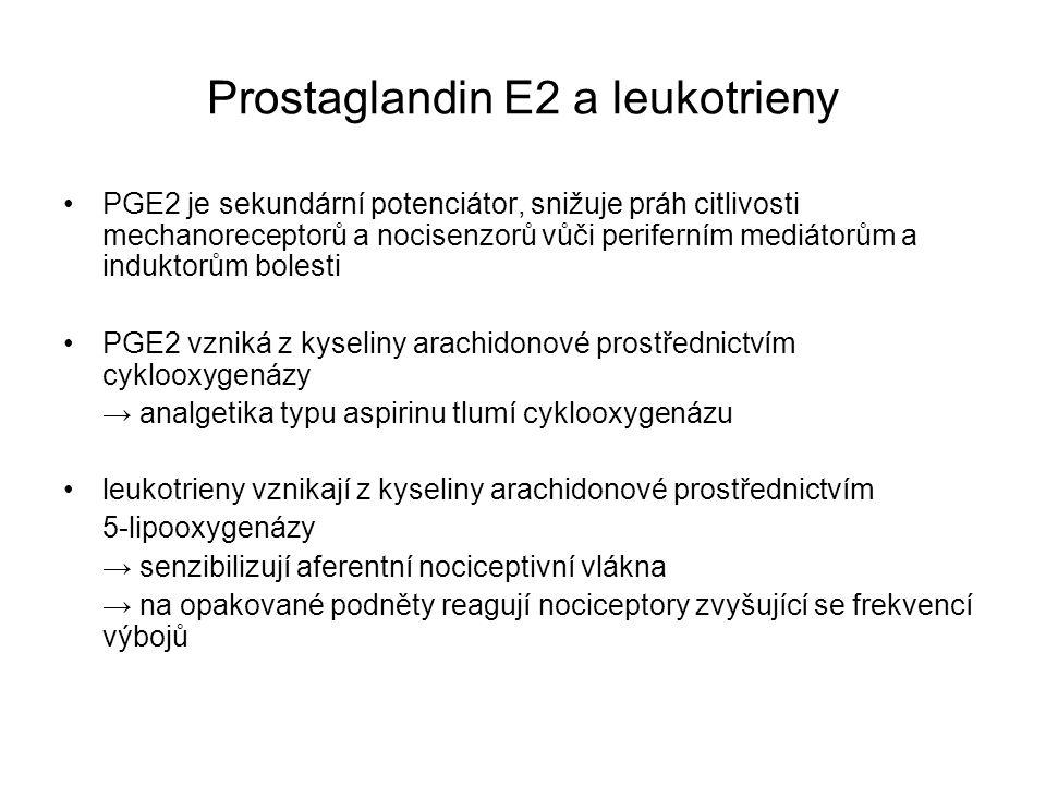 Prostaglandin E2 a leukotrieny