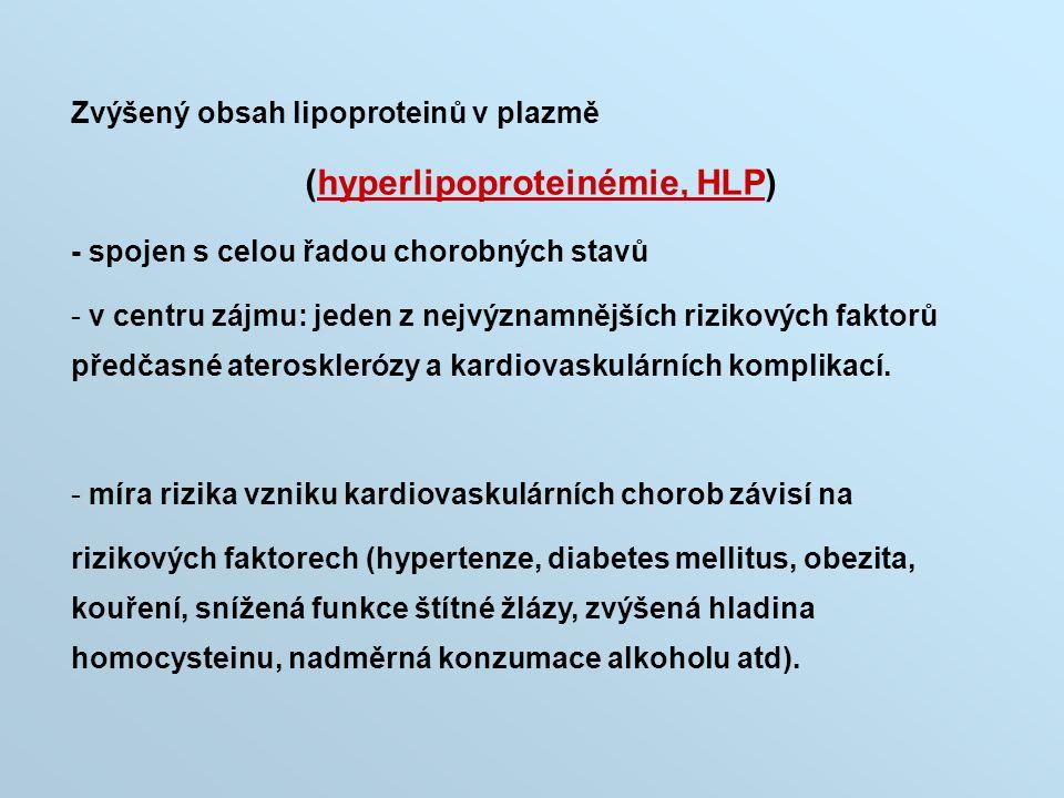 (hyperlipoproteinémie, HLP)