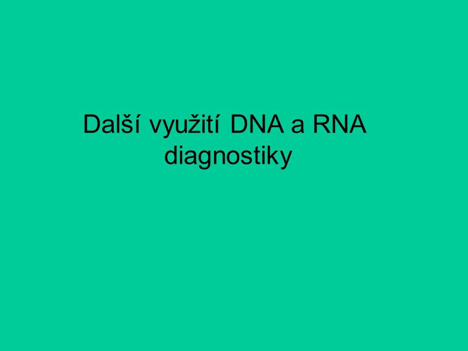 Další využití DNA a RNA diagnostiky