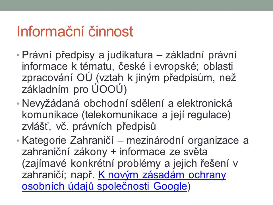 Informační činnost