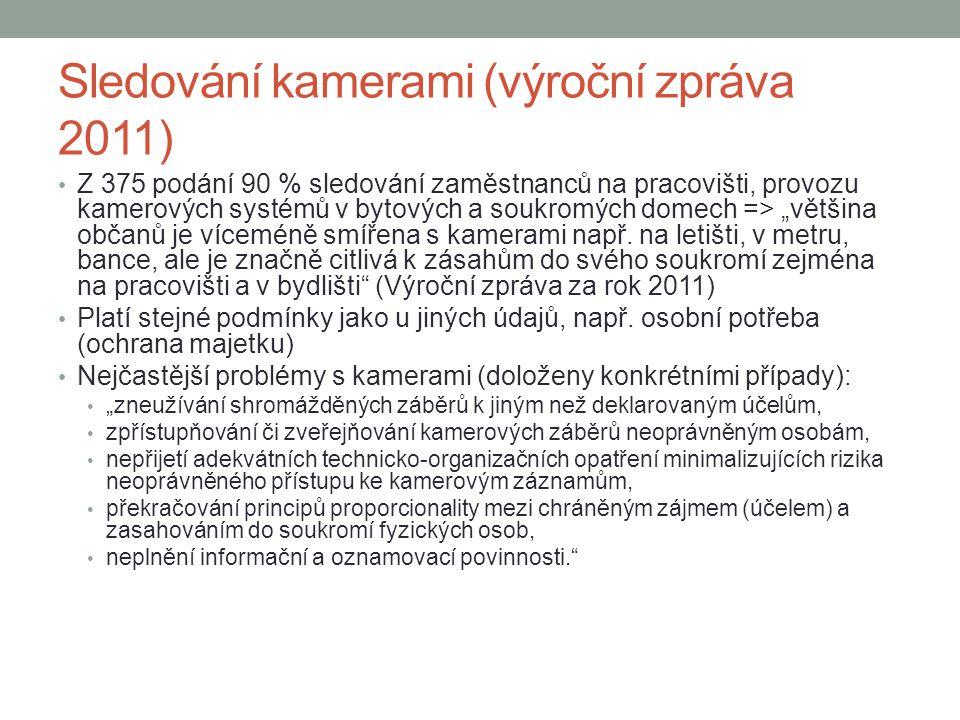 Sledování kamerami (výroční zpráva 2011)