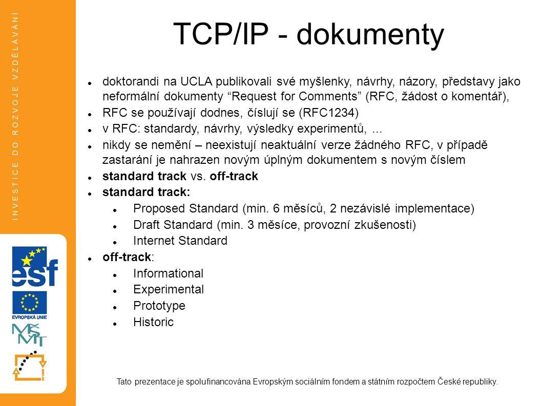 TCP/IP - dokumenty