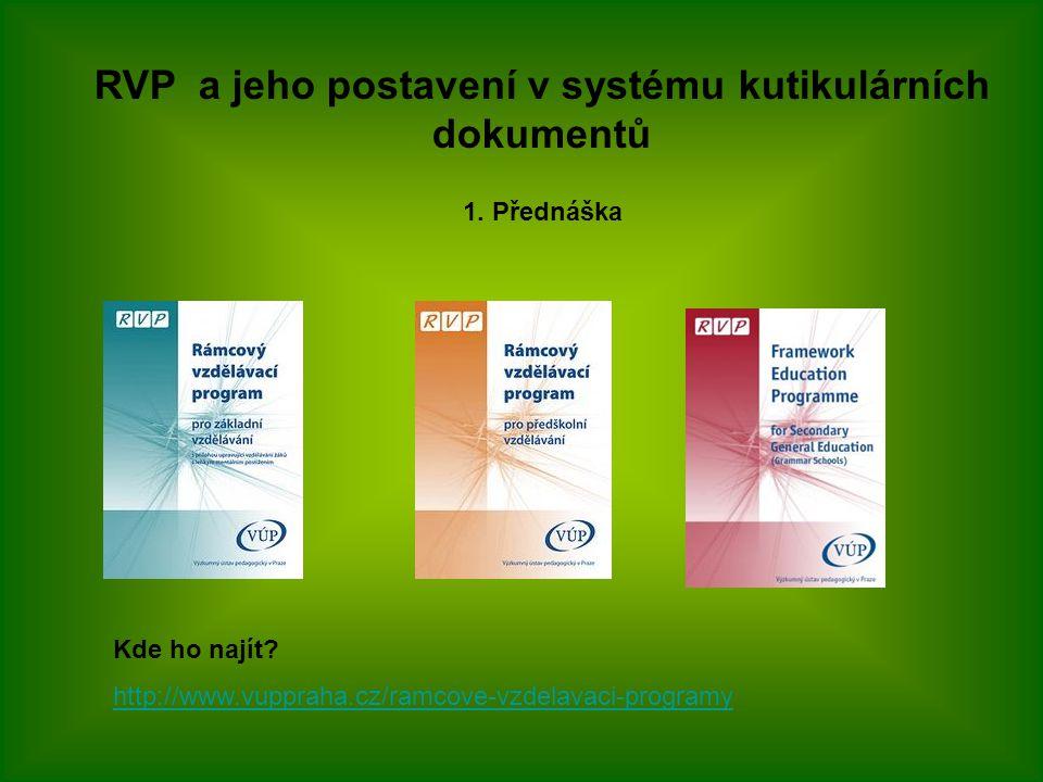 RVP a jeho postavení v systému kutikulárních dokumentů