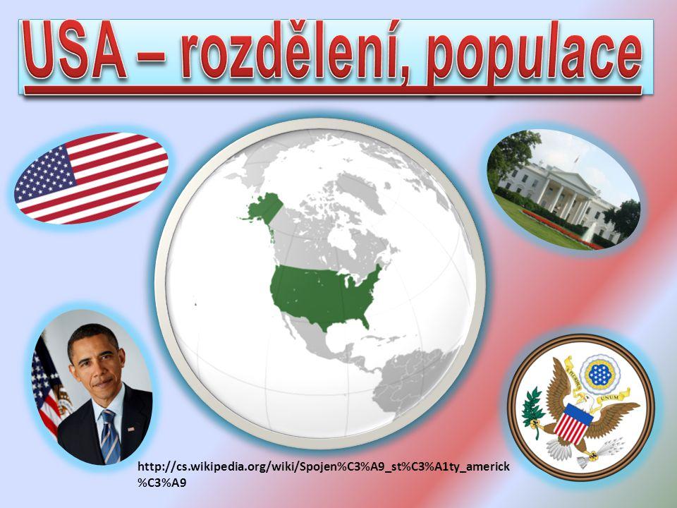 USA – rozdělení, populace