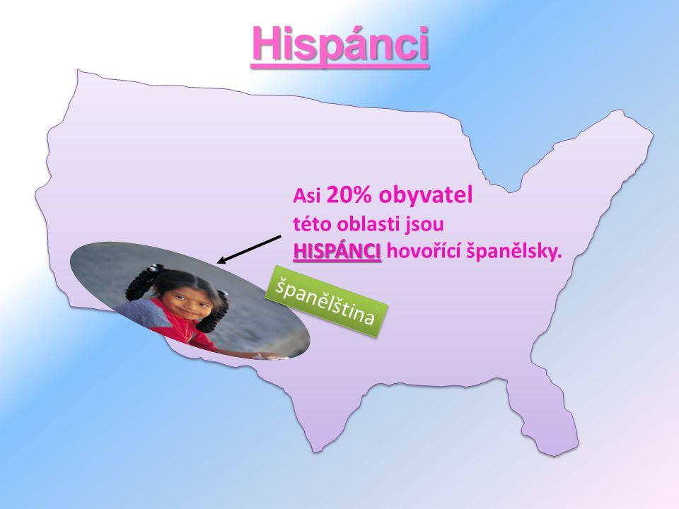 Hispánci Asi 20% obyvatel této oblasti jsou