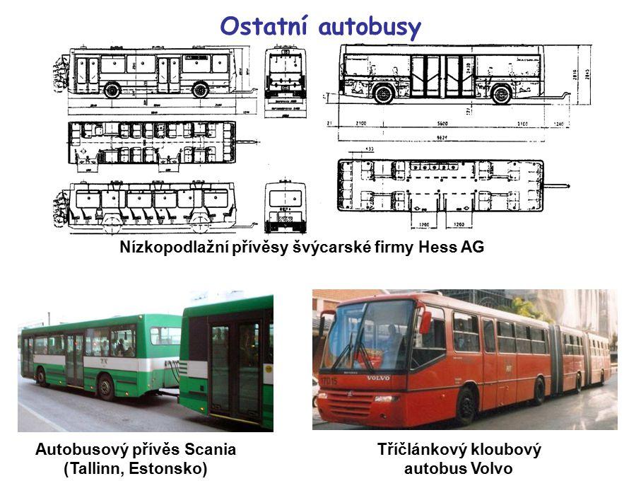 Ostatní autobusy Nízkopodlažní přívěsy švýcarské firmy Hess AG