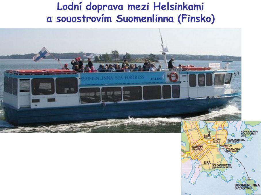 Lodní doprava mezi Helsinkami a souostrovím Suomenlinna (Finsko)