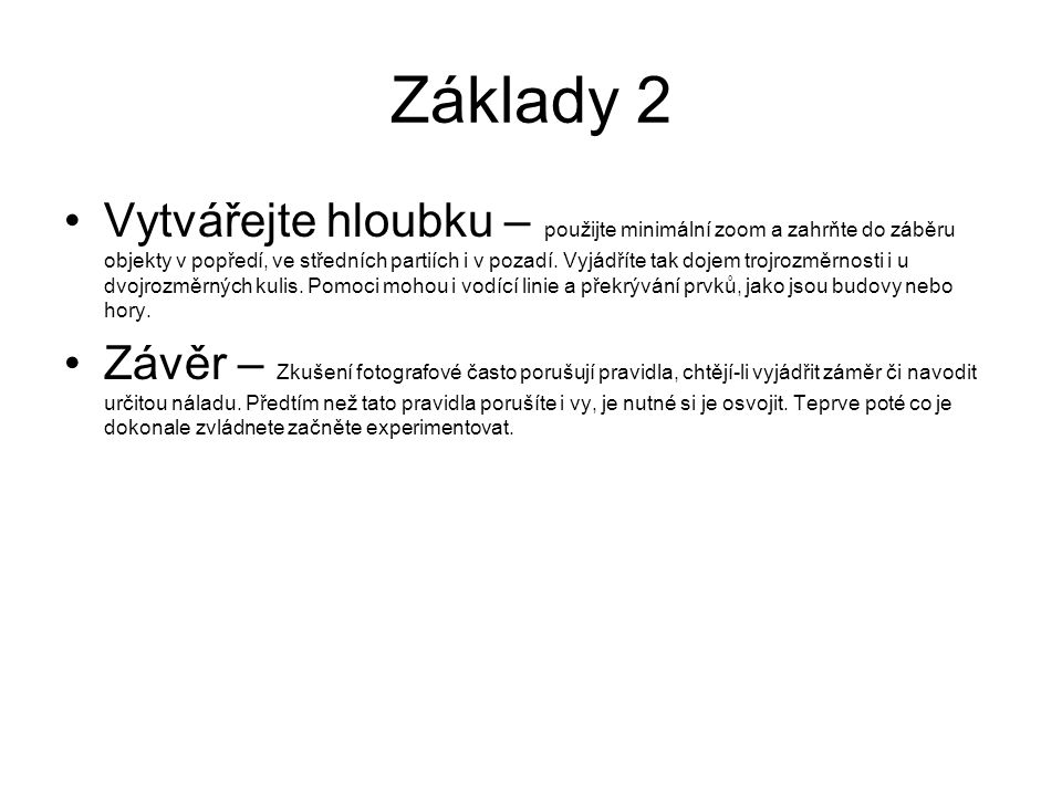Základy 2