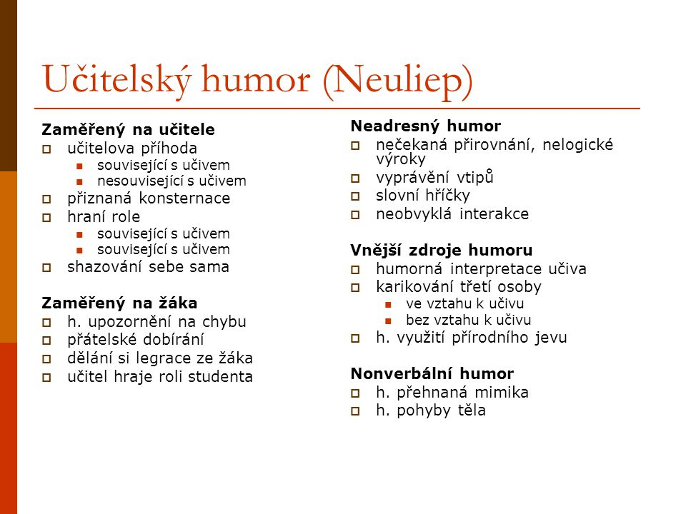 Učitelský humor (Neuliep)