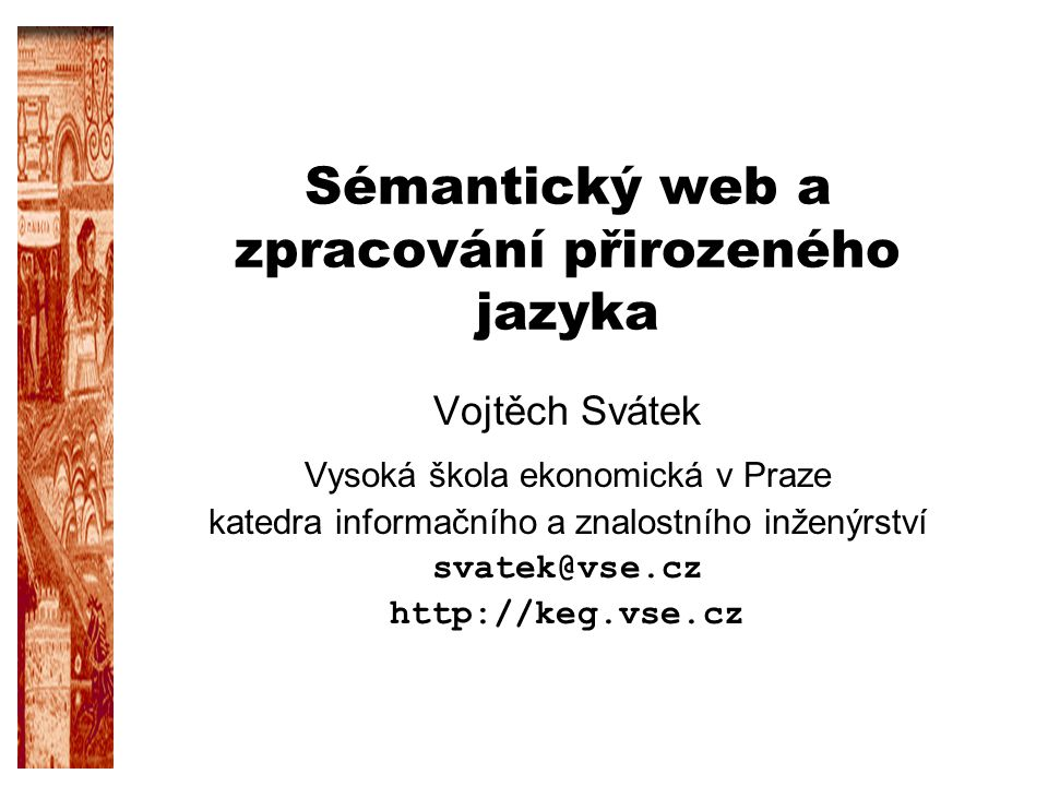 Sémantický web a zpracování přirozeného jazyka