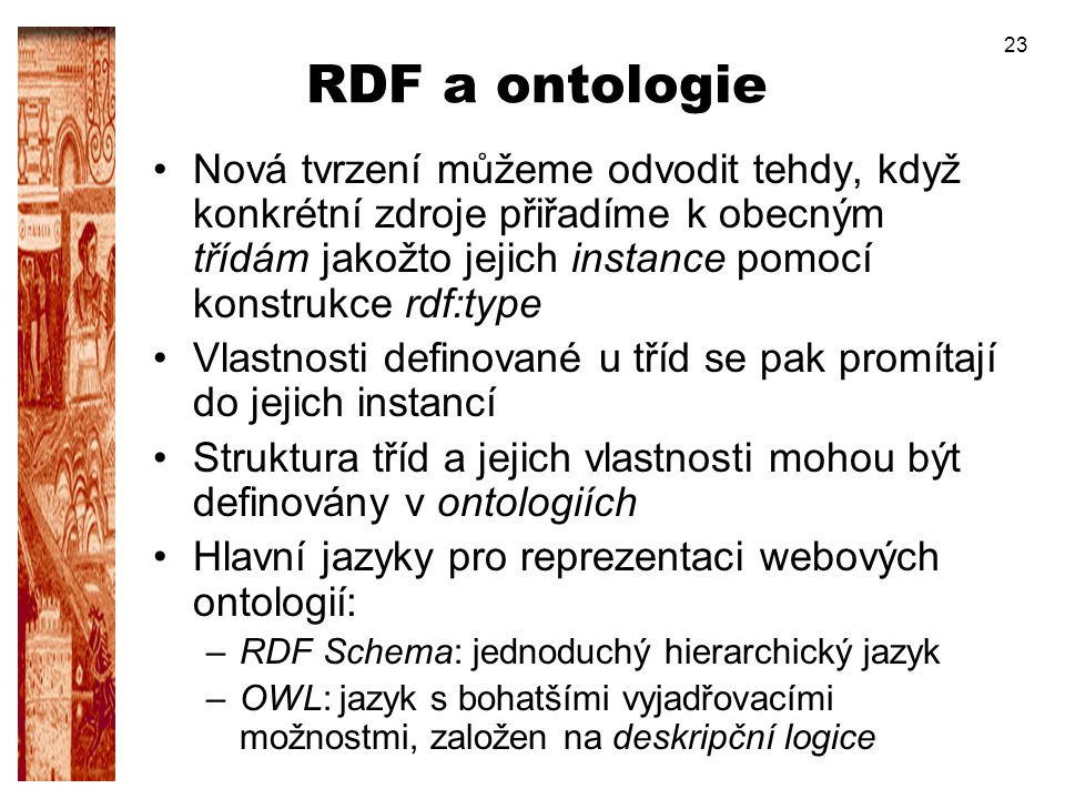 RDF a ontologie