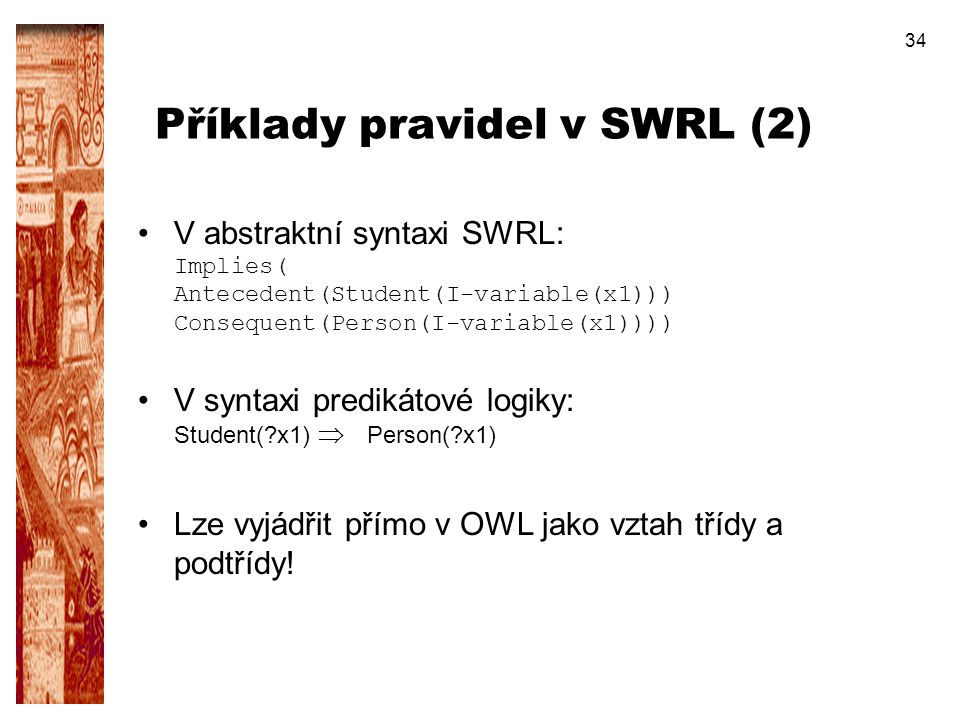 Příklady pravidel v SWRL (2)