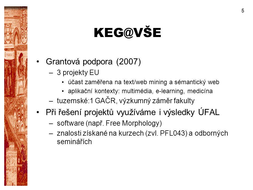 KEG@VŠE Grantová podpora (2007)