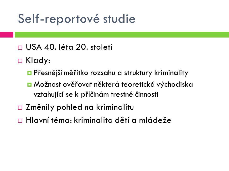 Self-reportové studie