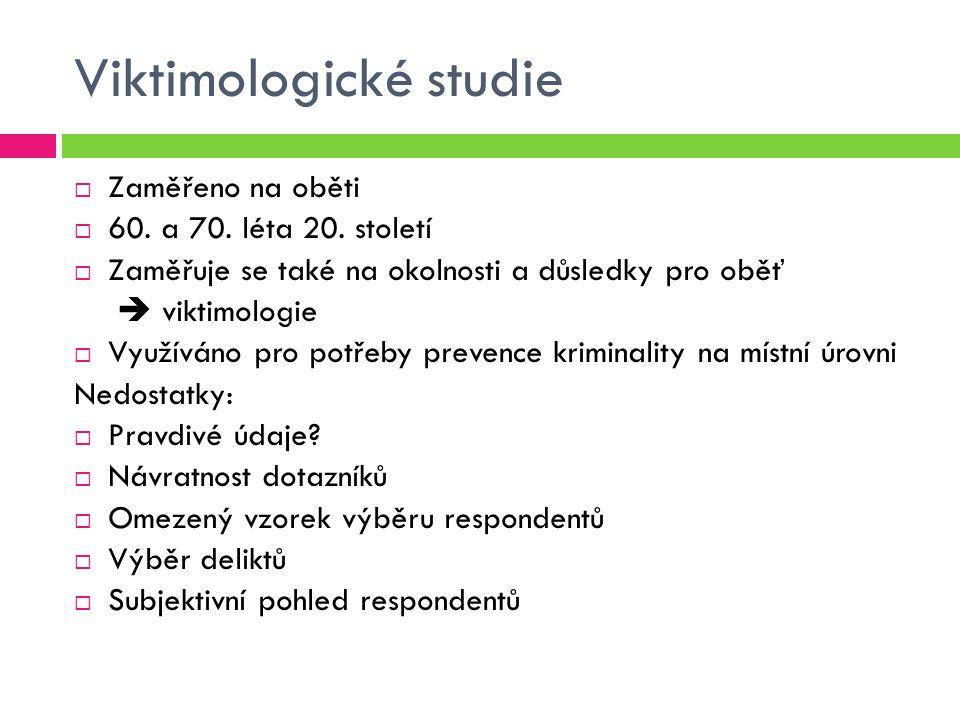 Viktimologické studie