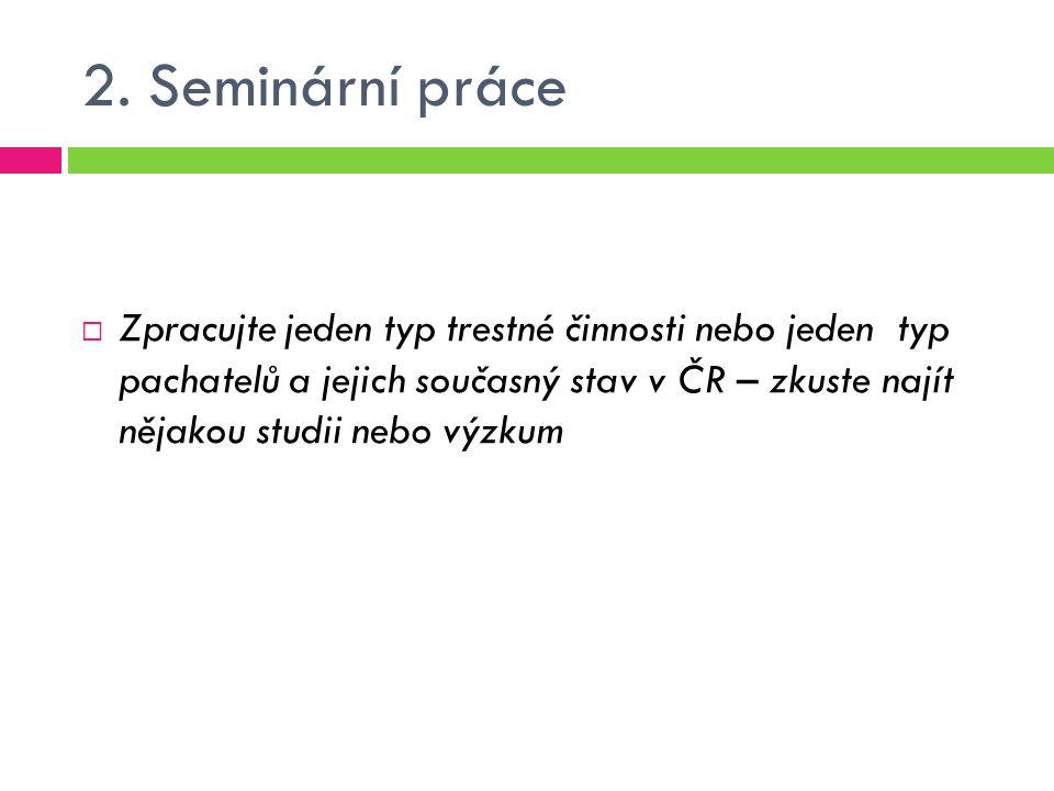 2. Seminární práce