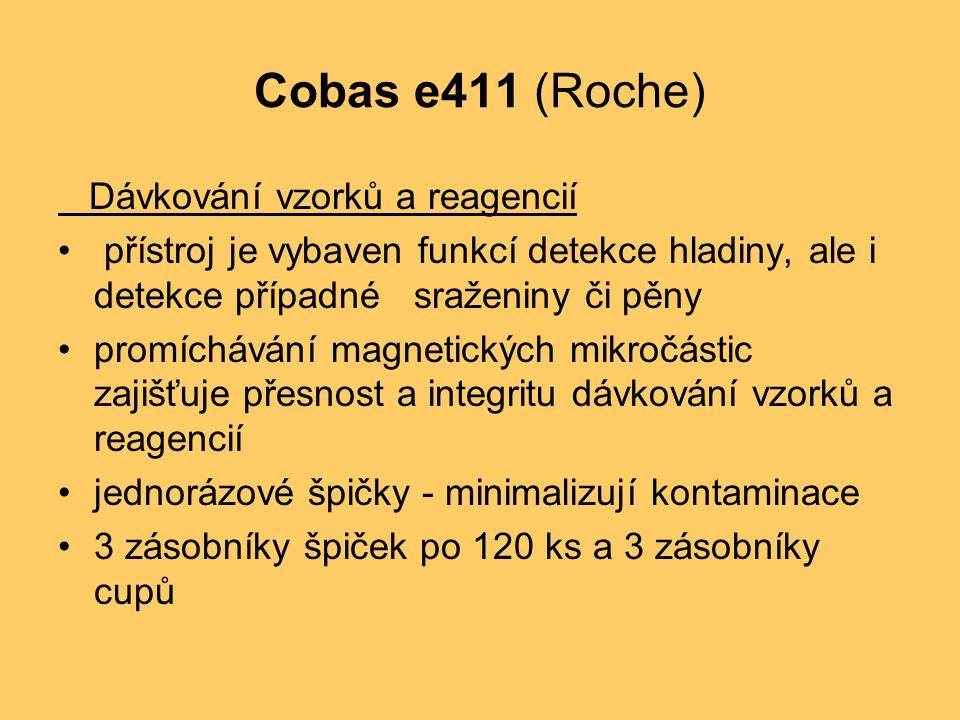 Cobas e411 (Roche) Dávkování vzorků a reagencií