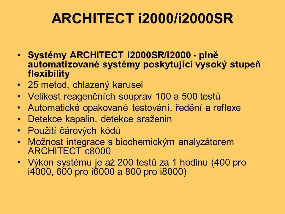 ARCHITECT i2000/i2000SR Systémy ARCHITECT i2000SR/i2000 - plně automatizované systémy poskytující vysoký stupeň flexibility.