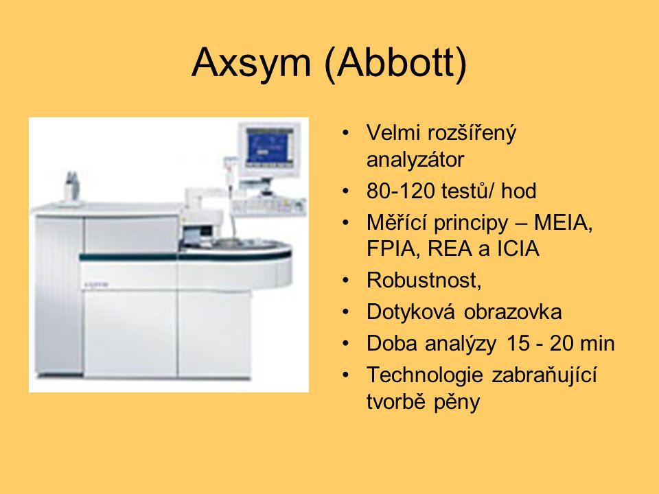 Axsym (Abbott) Velmi rozšířený analyzátor 80-120 testů/ hod