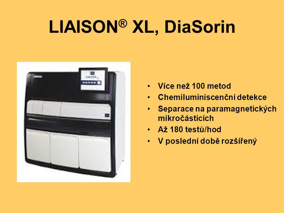 LIAISON® XL, DiaSorin Více než 100 metod Chemiluminiscenční detekce