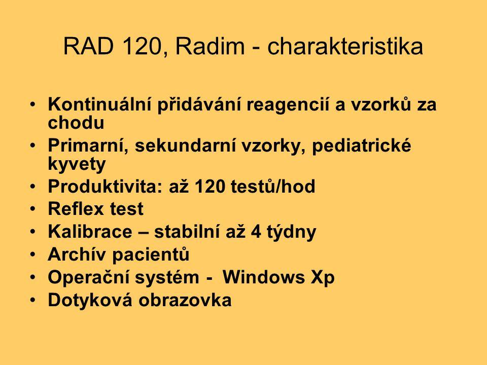 RAD 120, Radim - charakteristika