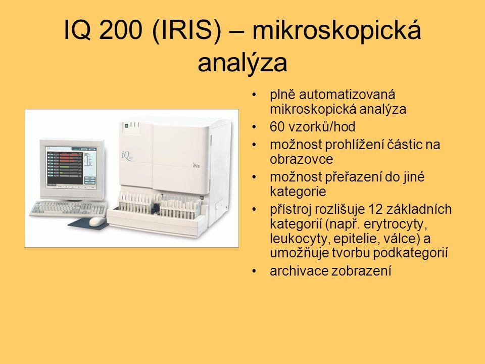 IQ 200 (IRIS) – mikroskopická analýza