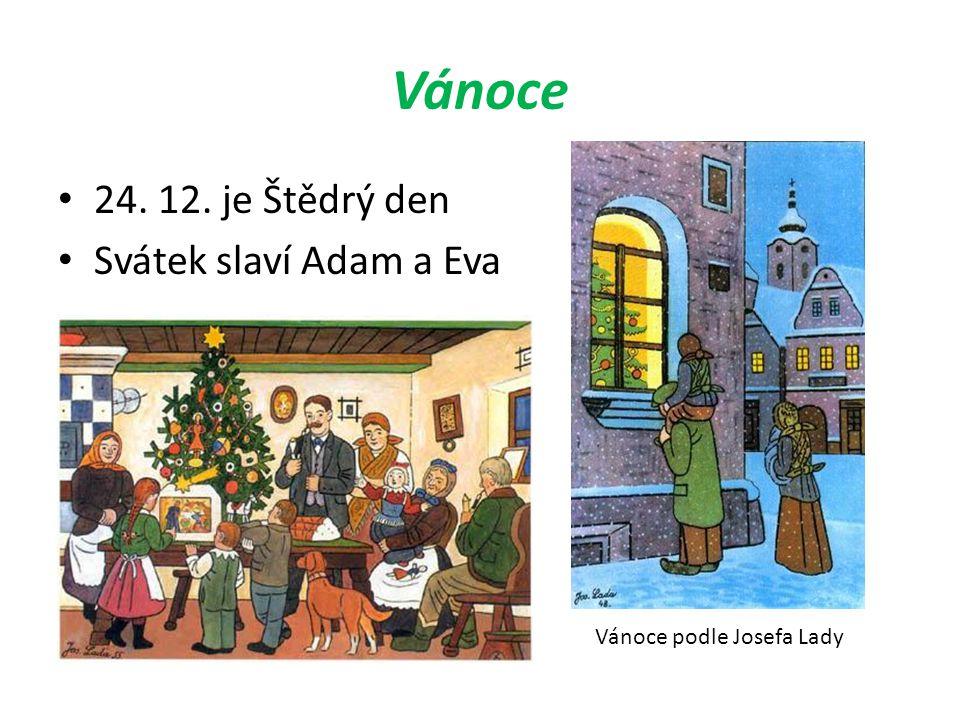 Vánoce 24. 12. je Štědrý den Svátek slaví Adam a Eva